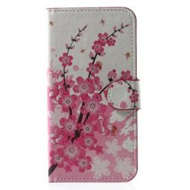 iPhone X / Xs vaaleanpunaiset kukat suojakotelo