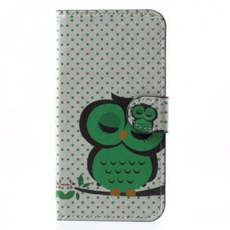 iPhone X / Xs vihreä pöllö suojakotelo