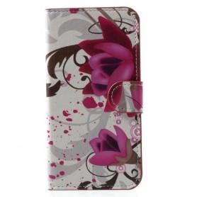 iPhone X / Xs violetit kukat suojakotelo