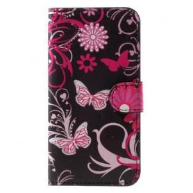 iPhone X / Xs kukkia ja perhosia suojakotelo