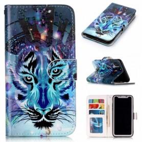 iPhone X / Xs sininen tiikeri suojakotelo