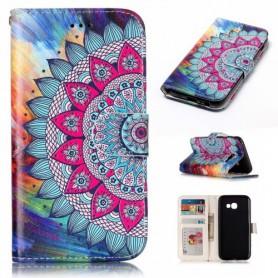 Samsung Galaxy A3 2017 värikäs kukka suojakotelo