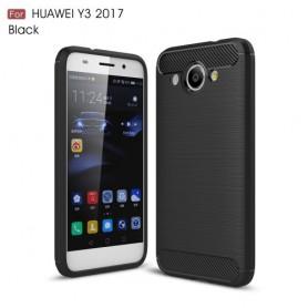 Huawei Y3 2017 musta suojakuori