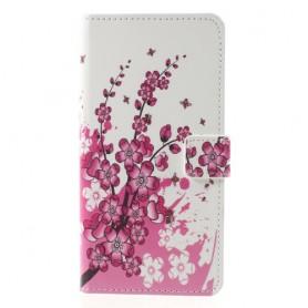 Nokia 8 vaaleanpunaiset kukat suojakotelo
