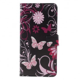 Nokia 8 kukkia ja perhosia suojakotelo