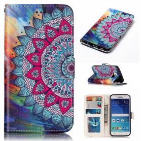 Samsung Galaxy S6 värikäs kukka suojakotelo