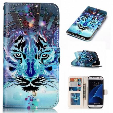 Samsung Galaxy S7 sininen tiikeri suojakotelo