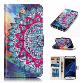 Samsung Galaxy S7 värikäs kukka suojakotelo