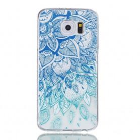 Samsung Galaxy S6 sininen kukka suojakuori.