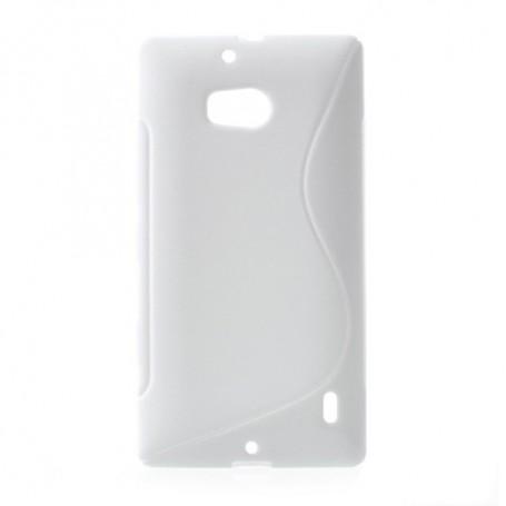 Lumia 930 valkoinen silikonisuojus.