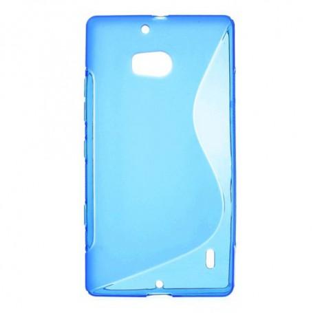 Lumia 930 sininen silikonisuojus.
