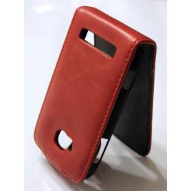 Nokia Lumia 710 punainen nahkainen läppäkotelo.