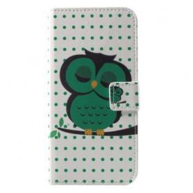 Huawei P9 Lite Mini vihreä pöllö suojakotelo