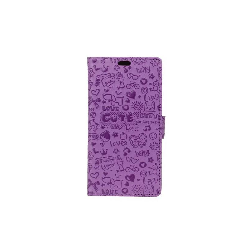 Nokia 2 violetti kuvioitu suojakotelo