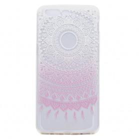 OnePlus 5 vaaleanpunainen kukka suojakuori.