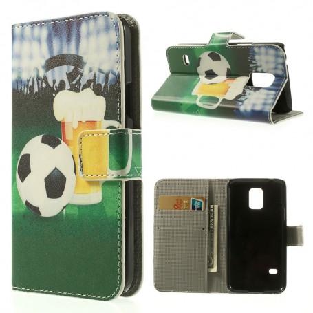 Galaxy S5 mini jalkapallo puhelinlompakko