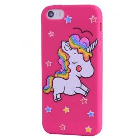 Apple iPhone SE pinkki yksisarvinen suojakuori.