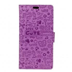 Huawei Honor 6A violetti kuvioitu suojakotelo