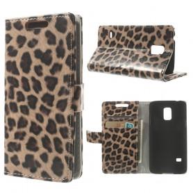 Galaxy S5 mini leopardi puhelinlompakko