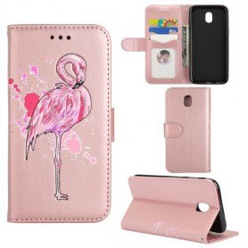 Samsung Galaxy J5 2017 vaaleanpunainen flamingo suojakotelo