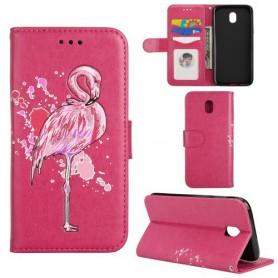 Samsung Galaxy J5 2017 hot pink flamingo suojakotelo