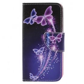 Samsung Galaxy J7 2017 violetit perhoset suojakotelo