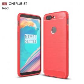 OnePlus 5T punainen suojakuori.