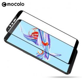 OnePlus 5T kirkas musta reunuksininen karkaistu lasikalvo.