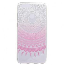 Huawei P9 Lite Mini vaaleanpunainen lootuskukka suojakuori.
