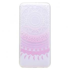 Huawei Honor 9 vaaleanpunainen lootuskukka suojakuori.