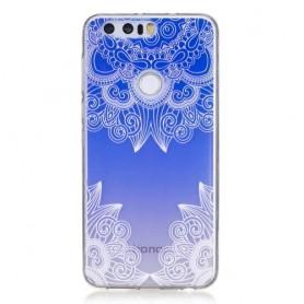 Huawei Honor 8 sininen kuvio suojakuori.