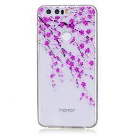 Huawei Honor 8 pinkit kukat suojakuori.