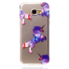 Samsung Galaxy A5 2017 violetti yksisarvinen suojakuori.