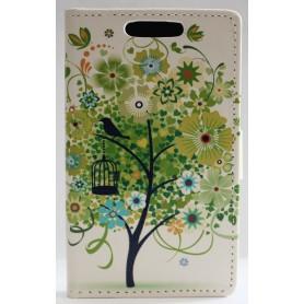 Lumia 520 vihreä puu lompakkokotelo.