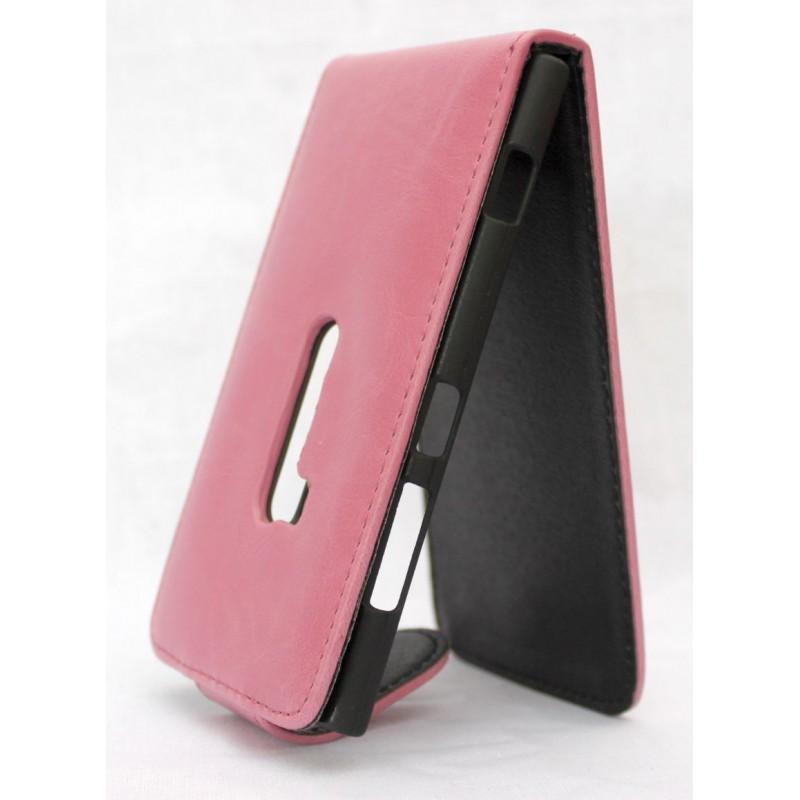 Lumia 920 vaaleanpunainen läppäkotelo.