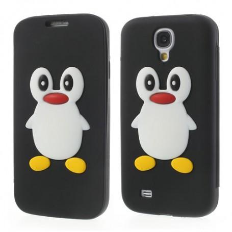 Galaxy S4 musta kannellinen pingviini silikonisuojus.