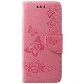 Samsung Galaxy S9 vaaleanpunaiset kukat suojakotelo