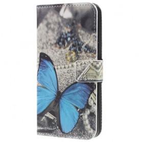 Samsung Galaxy S9 sininen perhonen suojakotelo