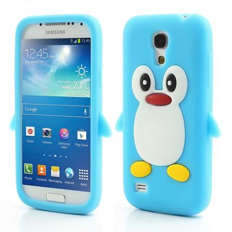 Galaxy S4 Mini vaaleansininen pingviini silikonisuojus.