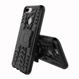 Huawei Honor 9 Lite musta suojakuori tuella