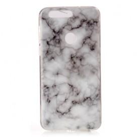 Huawei Honor 8 valko-harmaa marmori suojakuori.
