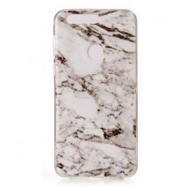 Huawei Honor 8 mustavalkoinen marmori suojakuori.