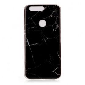 Huawei Honor 8 musta marmori suojakuori.