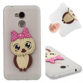 Huawei Honor 6A 3d tyttö pöllö suojakuori.