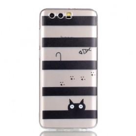 Huawei Honor 9 raidat ja kissa suojakuori.