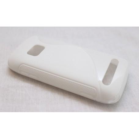 Lumia 710 valkoinen silikoni suojakuori.