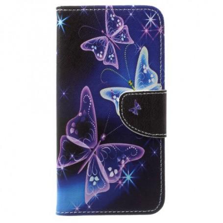 OnePlus 5T violetit perhoset suojakotelo