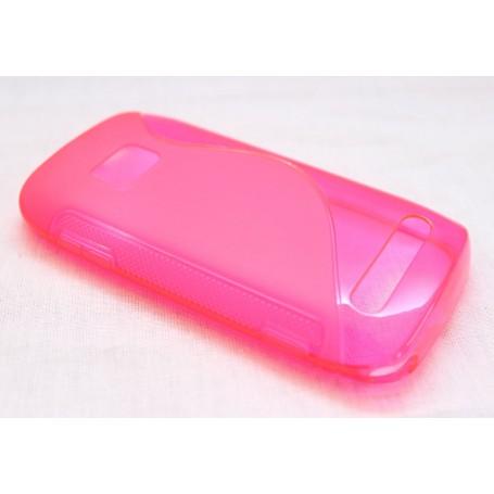 Lumia 710 roosan punainen silikoni suojakuori.