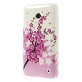 Lumia 630 vaaleanpunaiset kukat silikonisuojus.
