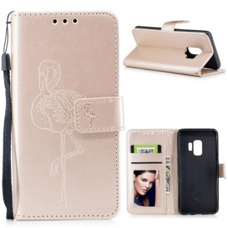 Samsung Galaxy S9 kullanvärinen flamingo suojakotelo